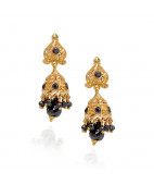 Beautiful Black Beads With Ball Drop Gold Jimmiki