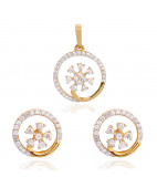 The Exquisite Diamond Pendant Set