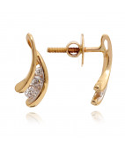 THE GUSTO 3 STONE DIAMOND EARRINGS