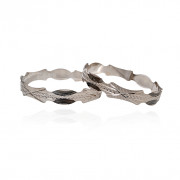 Silver Two Tone Designer Bangle