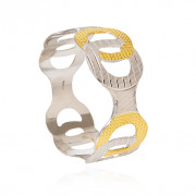Broad in Style Silver Fancy Bangle
