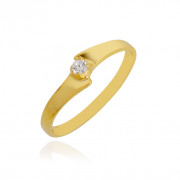 Single Stone Love Clasp Baby Gold Ring