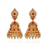 Antique Annapakshi Gold Beads Jimmiki
