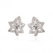 Sterling Silver Flower Post Earrings For Girls