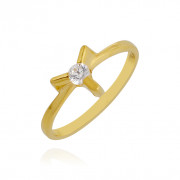 Wings Shape Gold Baby Ring