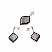 Marquise Shape Silver Micro Pave Setting Jewelry Earrings