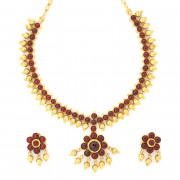 Australian Red Color Stone Necklace Set