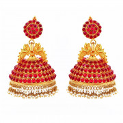 Traditionally Handmade South Indian Bridal Kempu Jimike