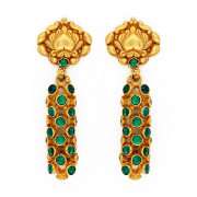 Antique Style Emerald Jhumkas