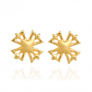 Shimmering Petals Gold Earrings