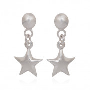 925 Sterling Silver Star Hanging Earrings