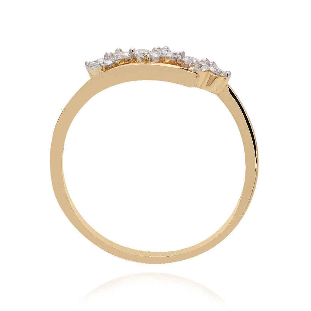The Austere Floral Diamond Ring