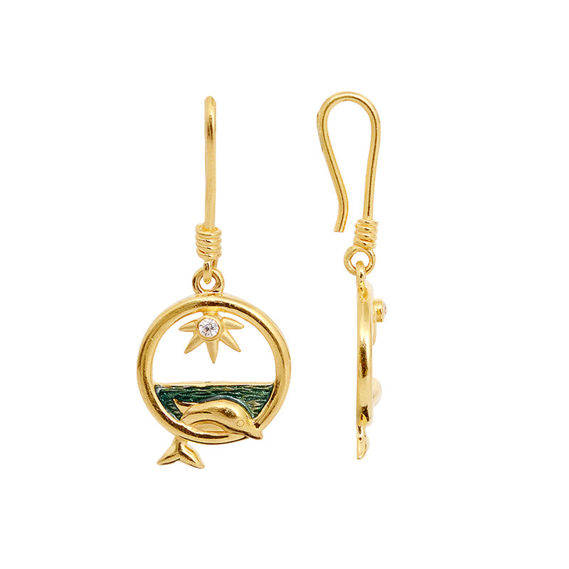 Gold Dolphin Hook Drops
