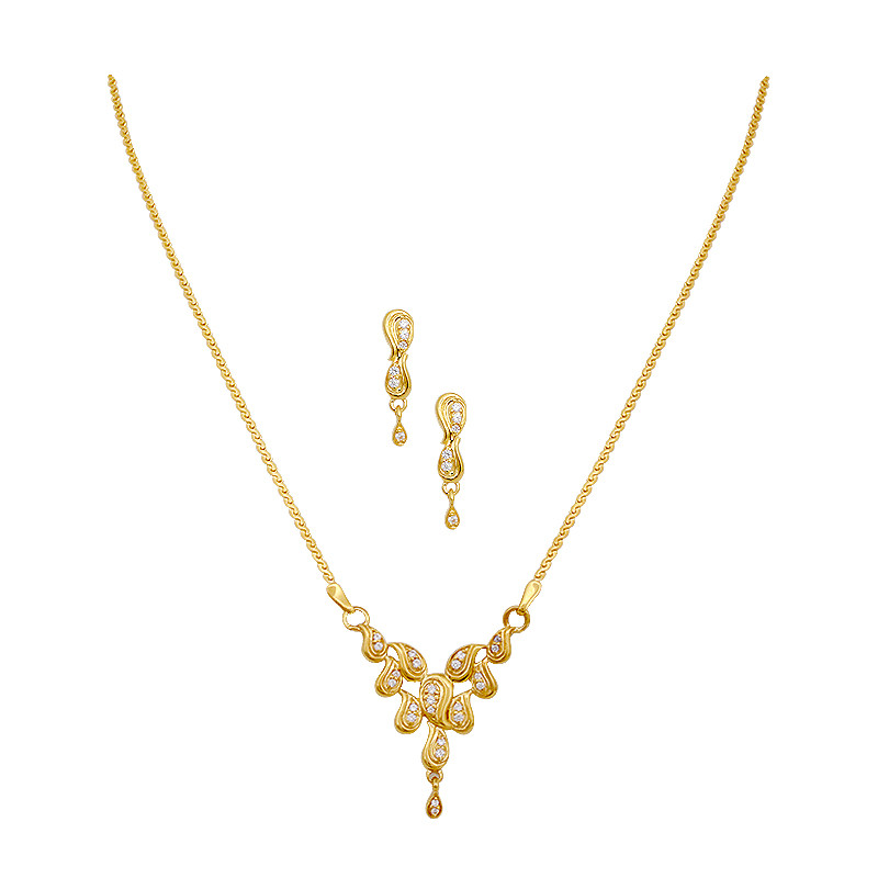 necklaces gold pendant with earrings gold