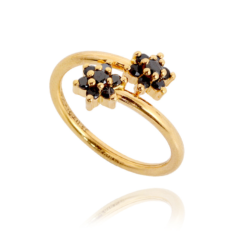 Ring gold  Rings | Baby Black Spiral Gold Ring | GRT Jewellers