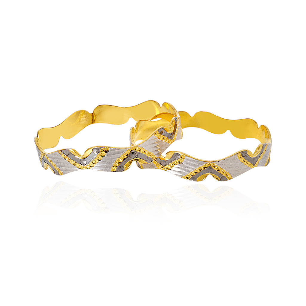 Gold Tone Butterfly Silver Bangle