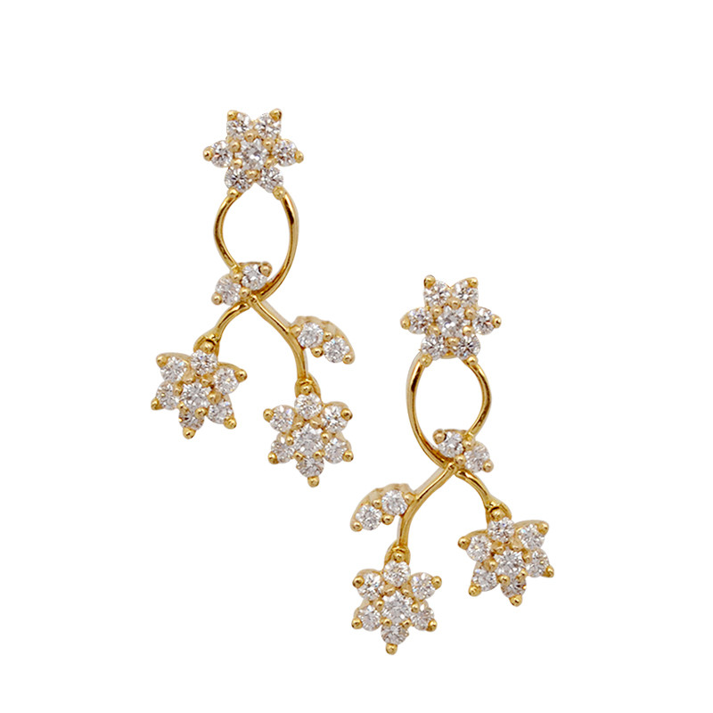 Seven Stone Fashion Diamond Earrings