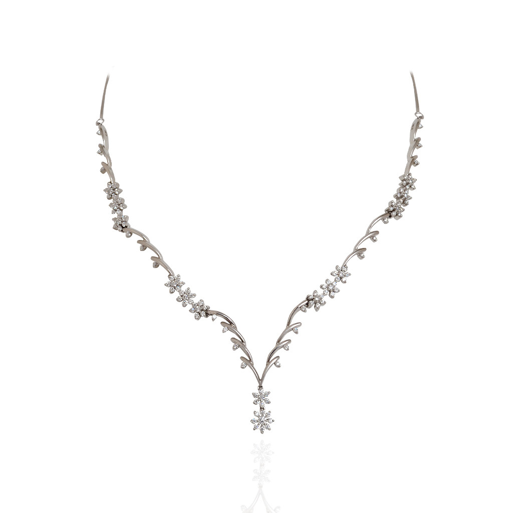 Royal Bloom Platinum Necklace