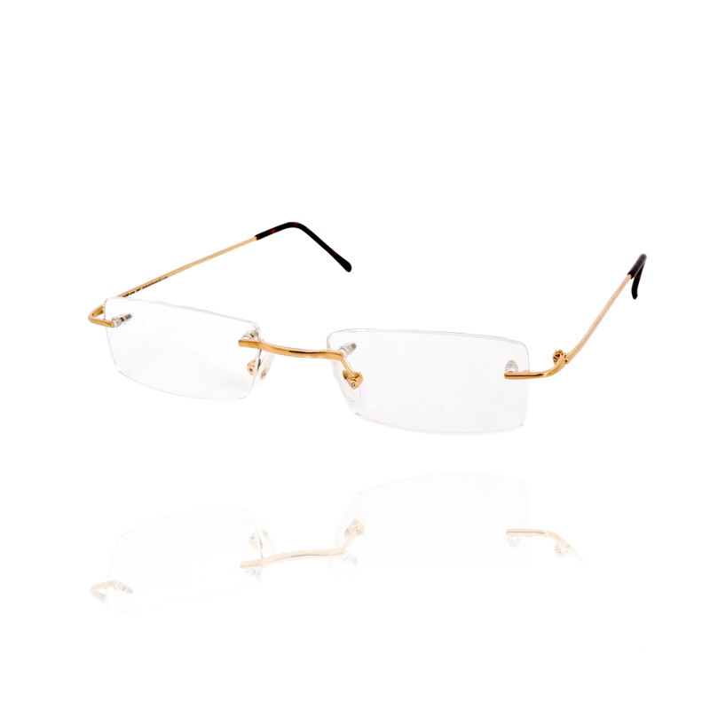 Gold Spectacle Eyeglass Frame