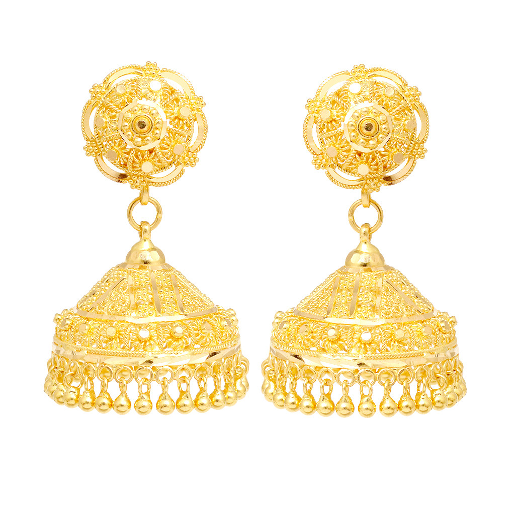 22K Yellow Gold Hanging Earrings