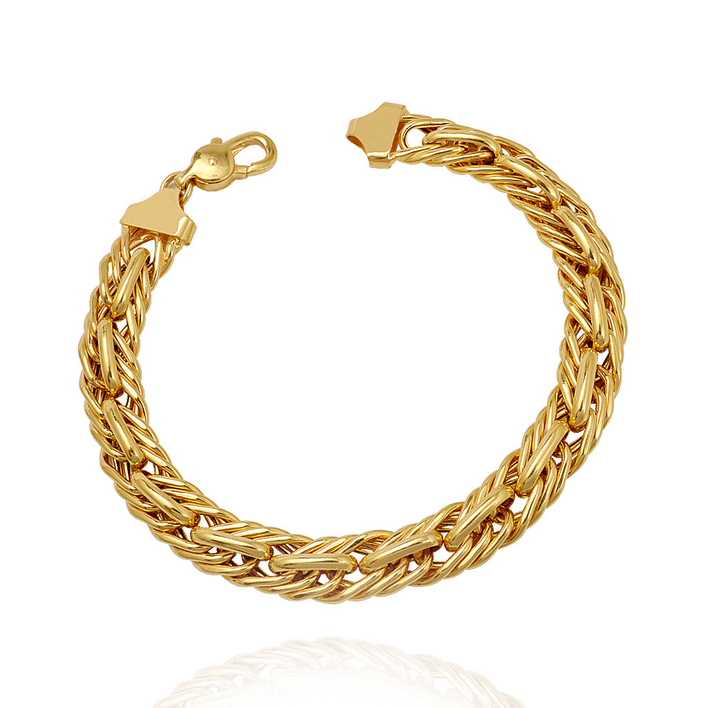 Mens Accessories 22 Kt Gold Mens Curb Chain Bracelet