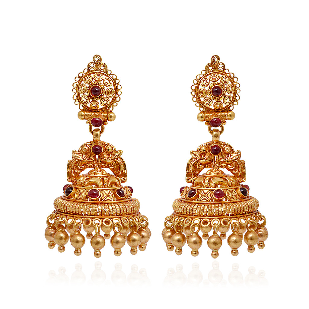 Collections Antique Annapakshi Gold Beads Jimmiki Grt