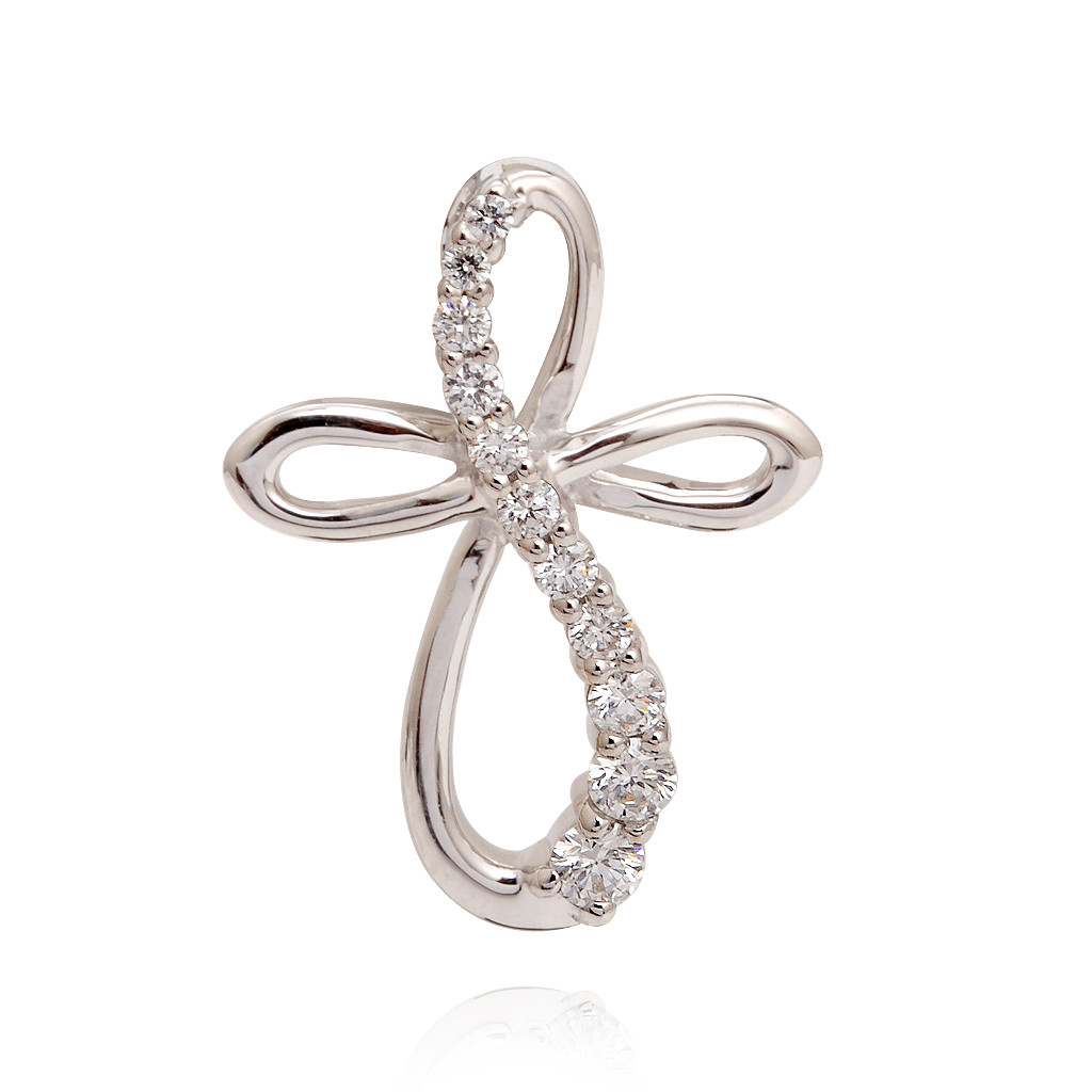 The Cross Infinity Gold Diamond Pendant
