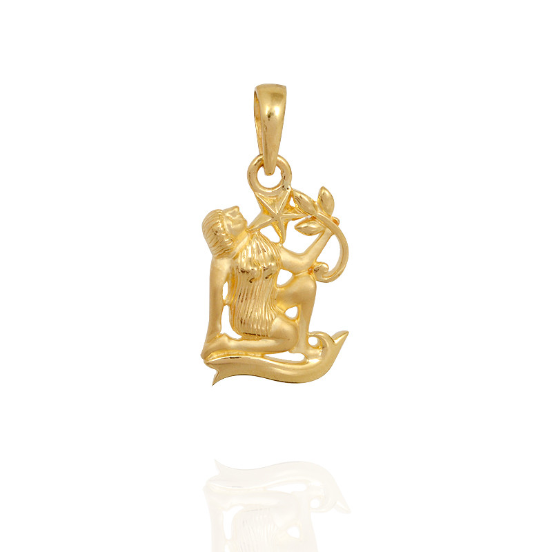 Virgo Gold Pendant