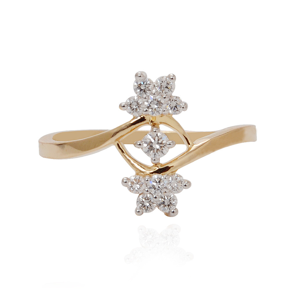 Double Sunshine Diamond Ring