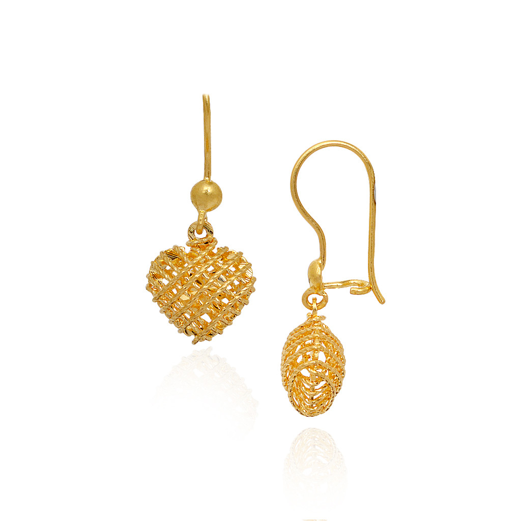 """The Words Of Love"" Gold Earrings"