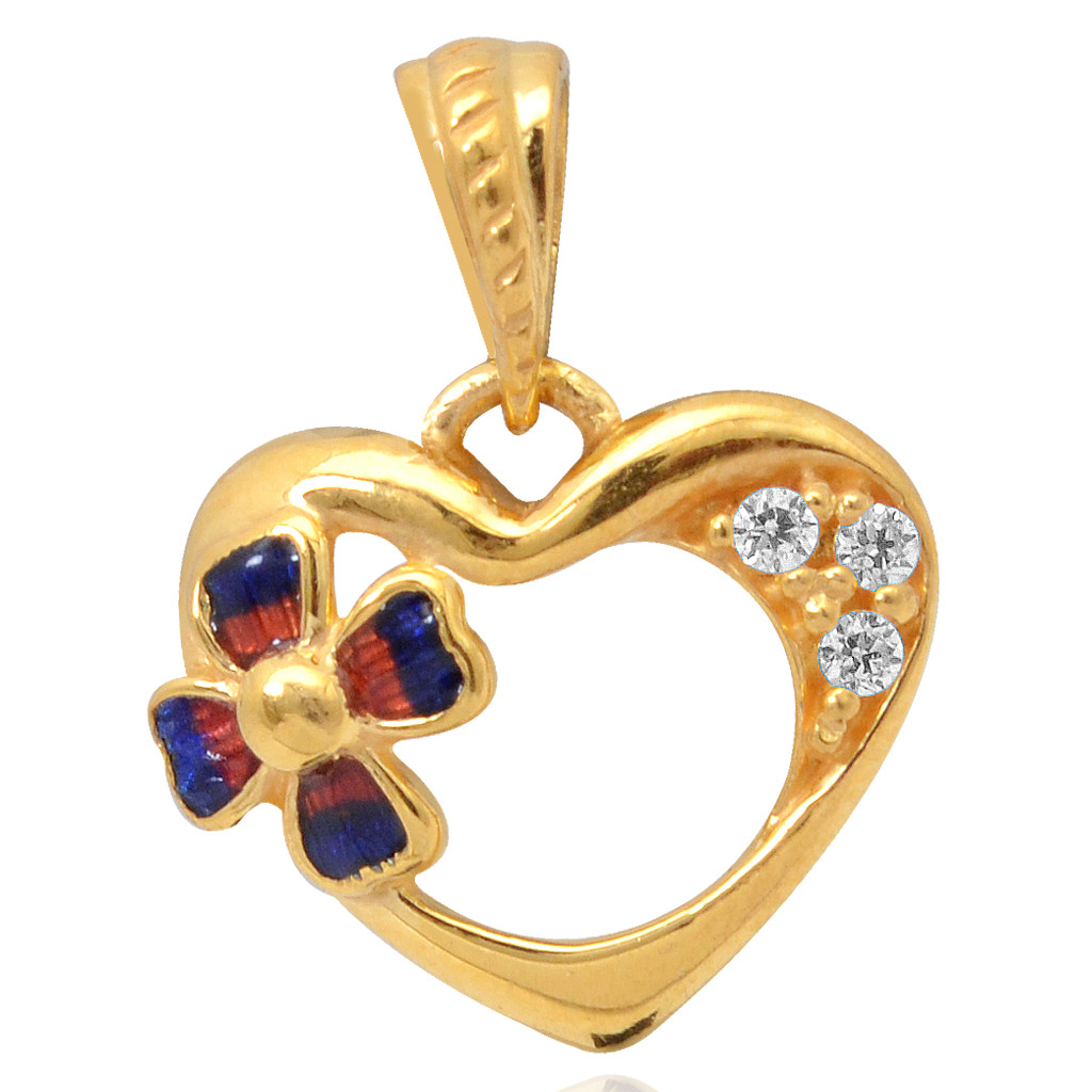 The Four Petal Floral Heart Pendant