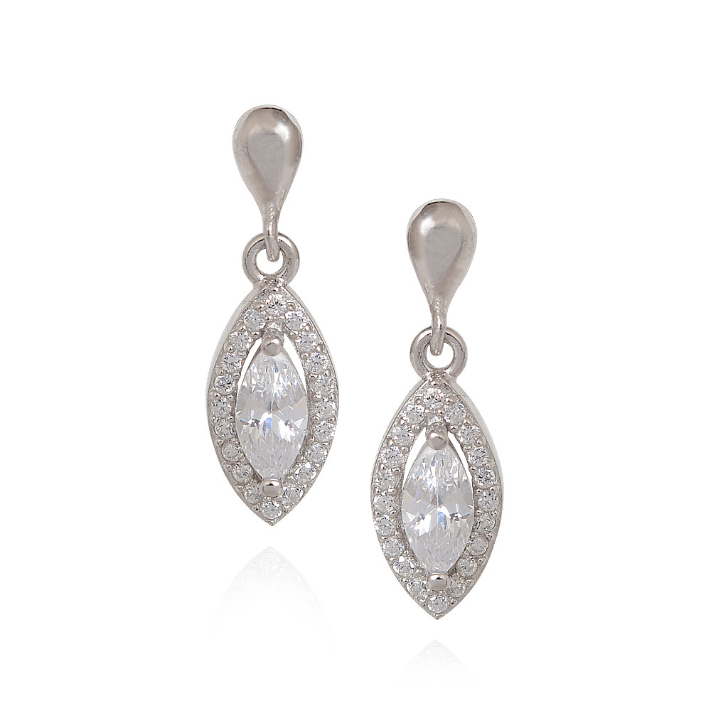 Collections | swarovski Crystal Eye Silver Earring