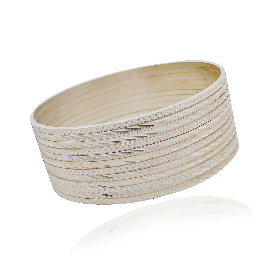 Set of Silver Collection Bangle