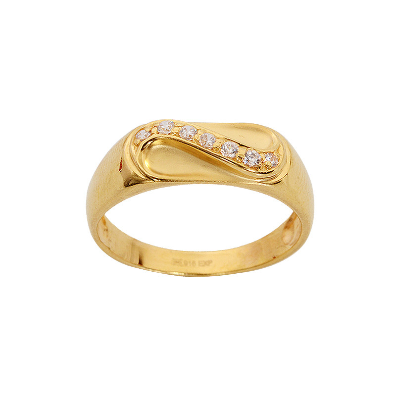 Stone Studded Infinity Gold Ring