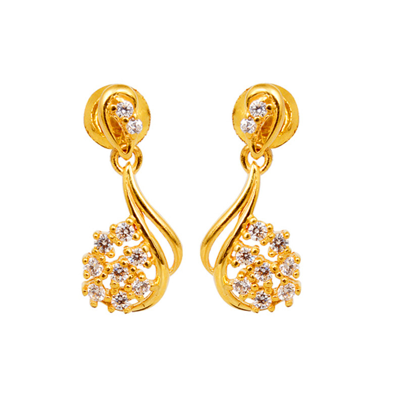 Gorgeous Zirconia Gold Fancy Drops