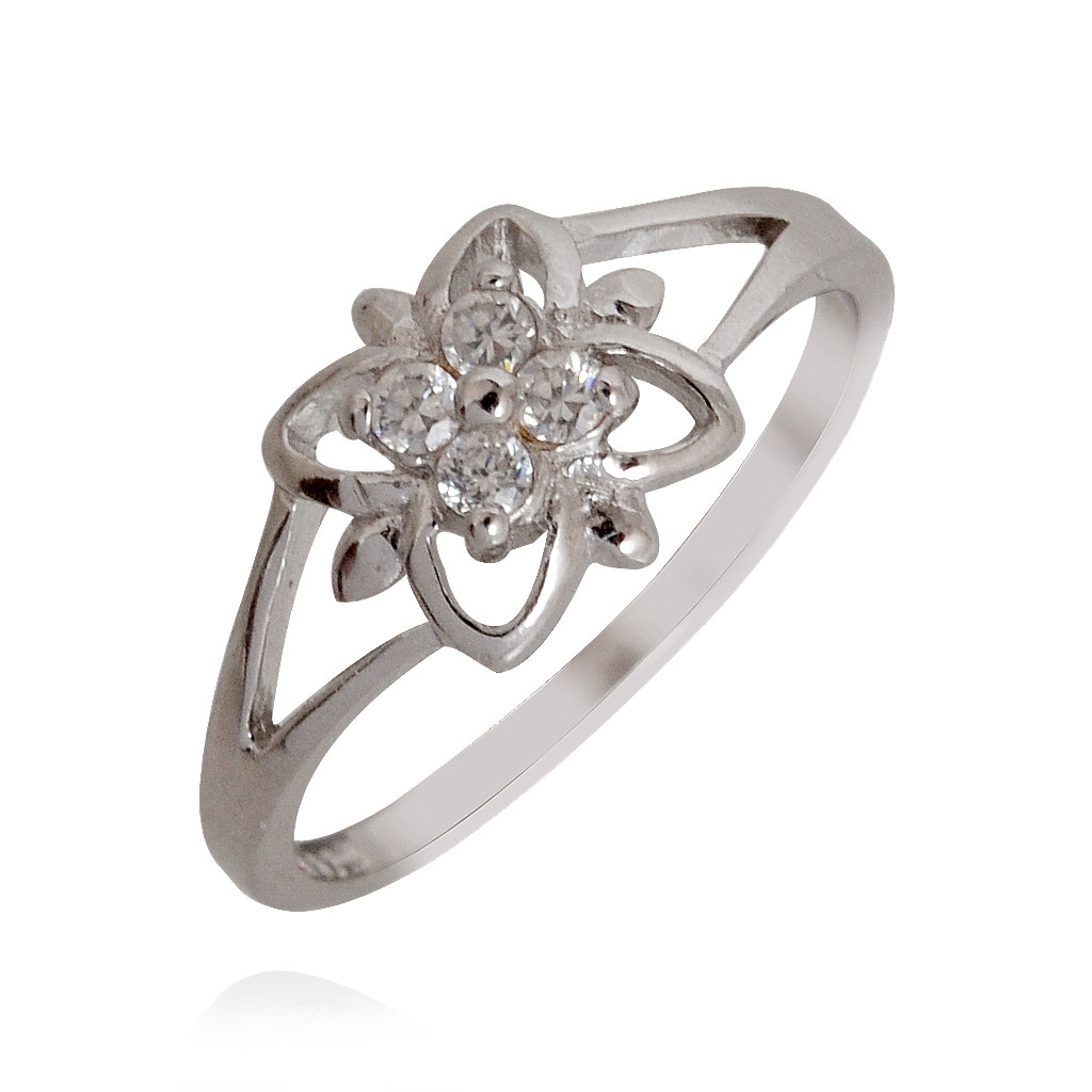 Artistic Floral Silver Ring