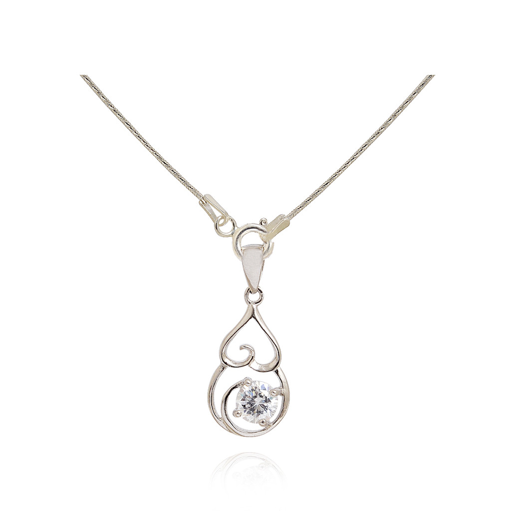 Royal Bloom Silver Pendant with Chain