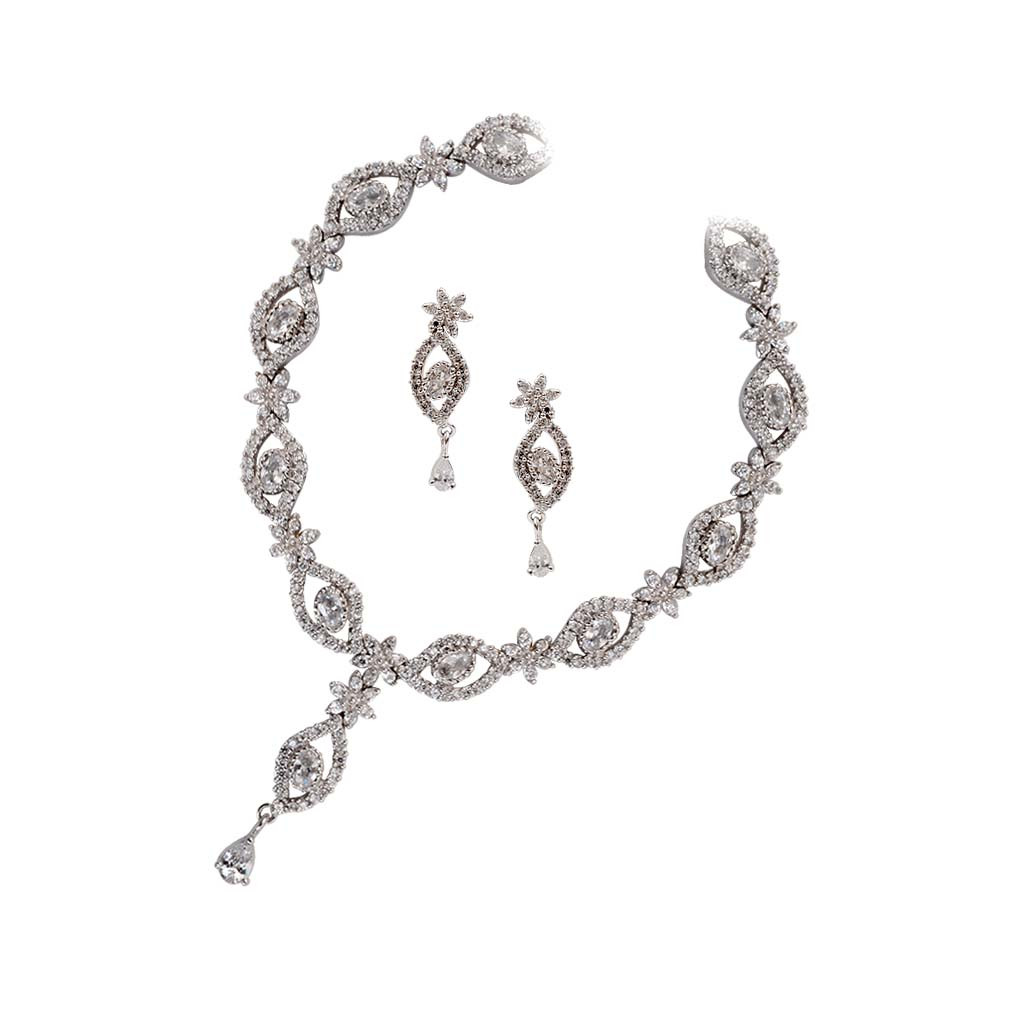 Classic Beauty Silver Necklace Set