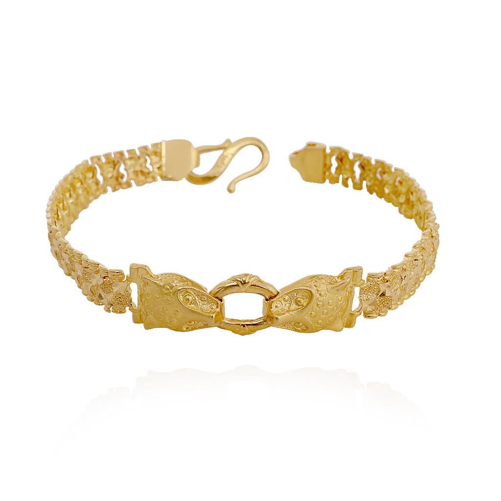 Gold Cheetah Mens Bracelet