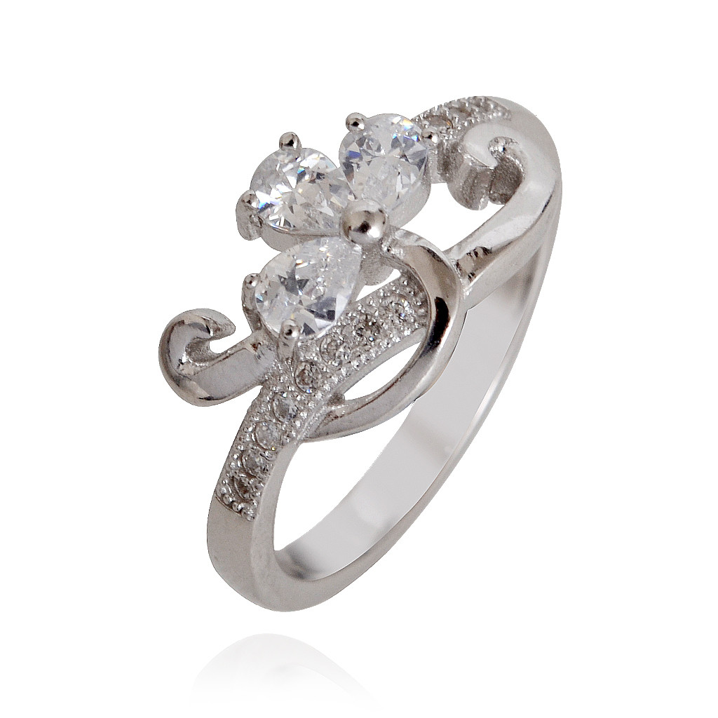 Floral Fantasia Silver Ring