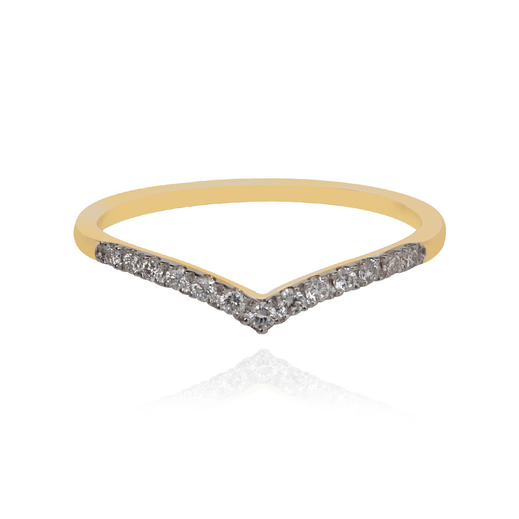Asmi 18KT Gold Ring with Diamond Stones