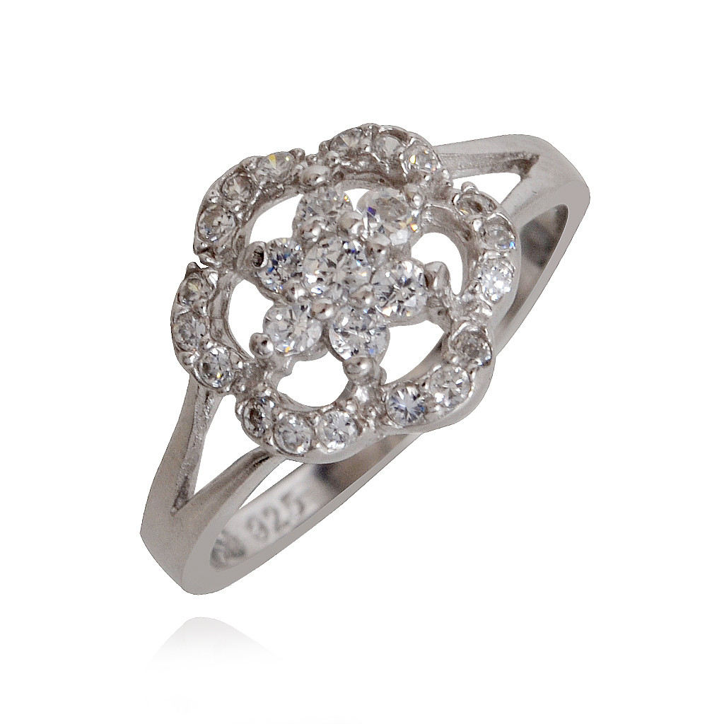Floral Silver Ring