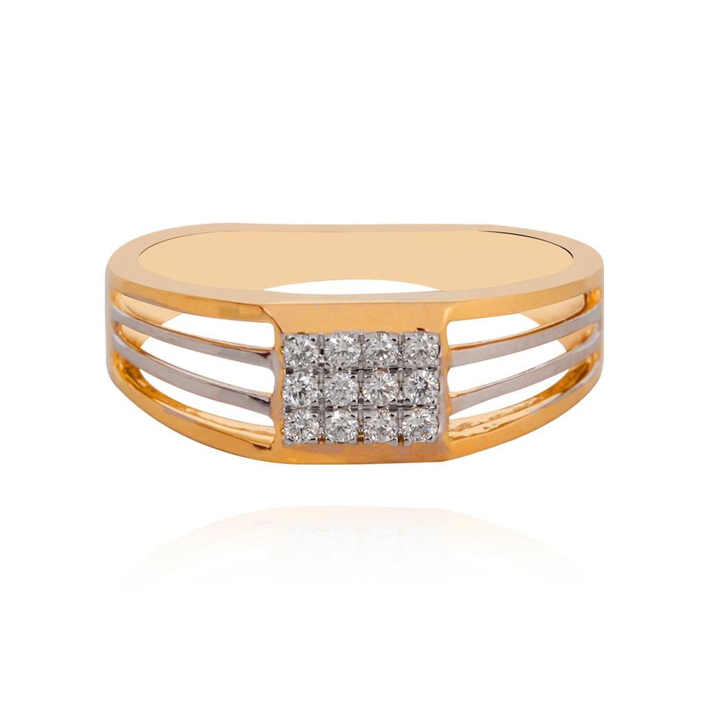 Sangini Yellow Gold Diamond Ring