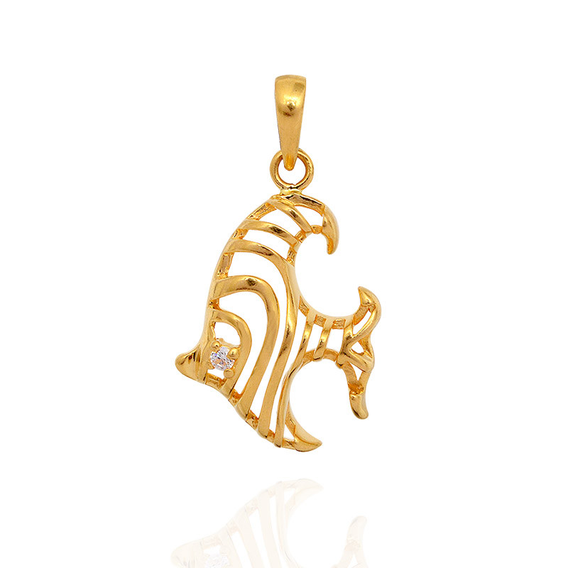 Pendants gold fish pendant grt jewellers for Gold fish pendant
