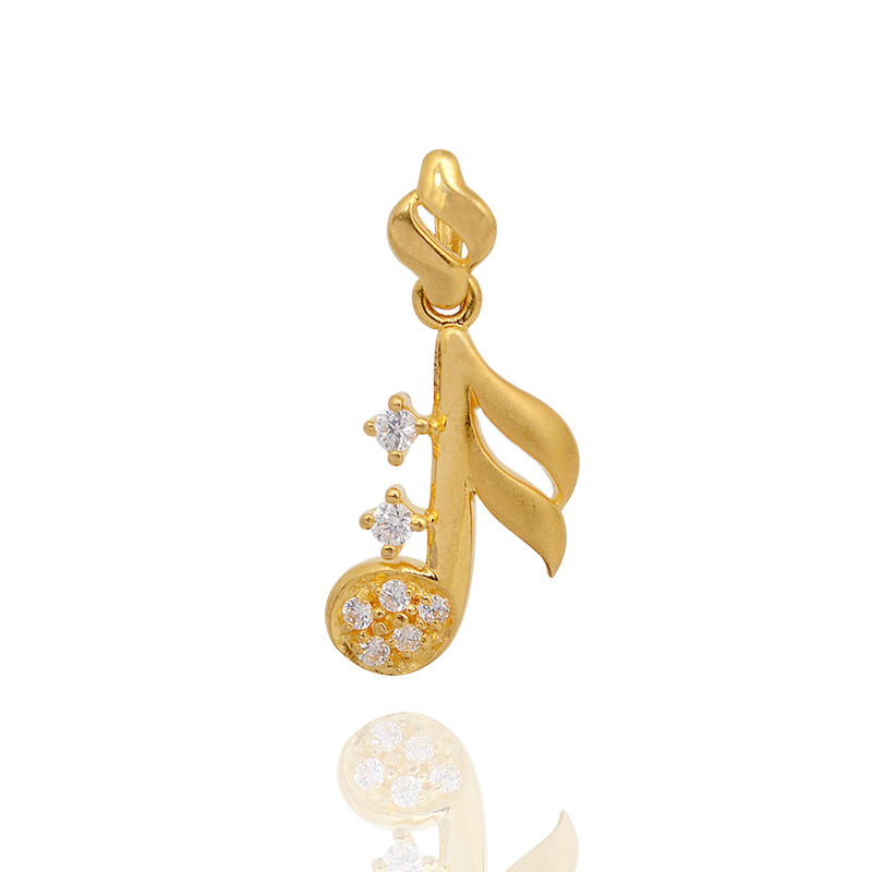 Musical Note Gold Pendant