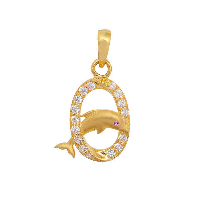 JUMPING DOLPHIN GOLD PENDANT