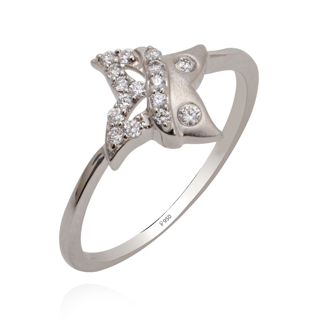 Brilliant cut Platinum ring