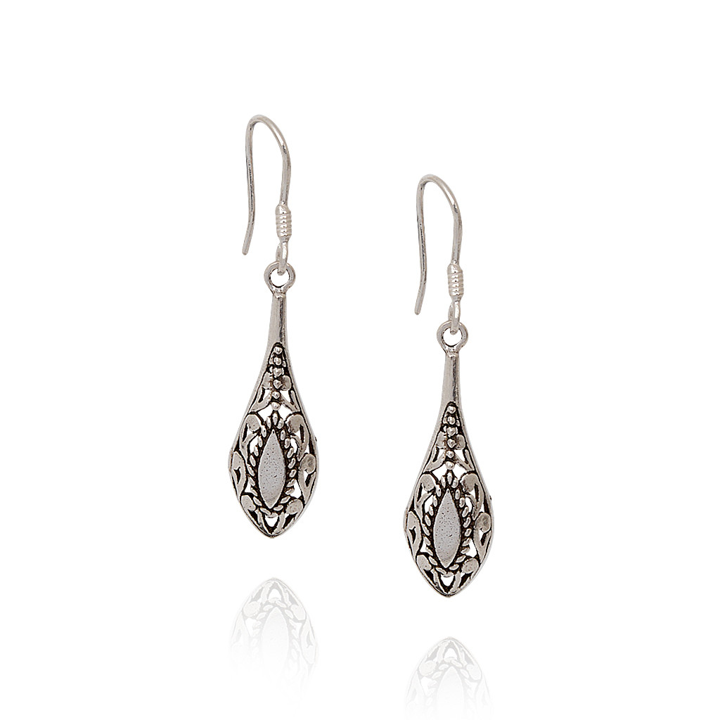 925 Silver Drop Hanging Earrings
