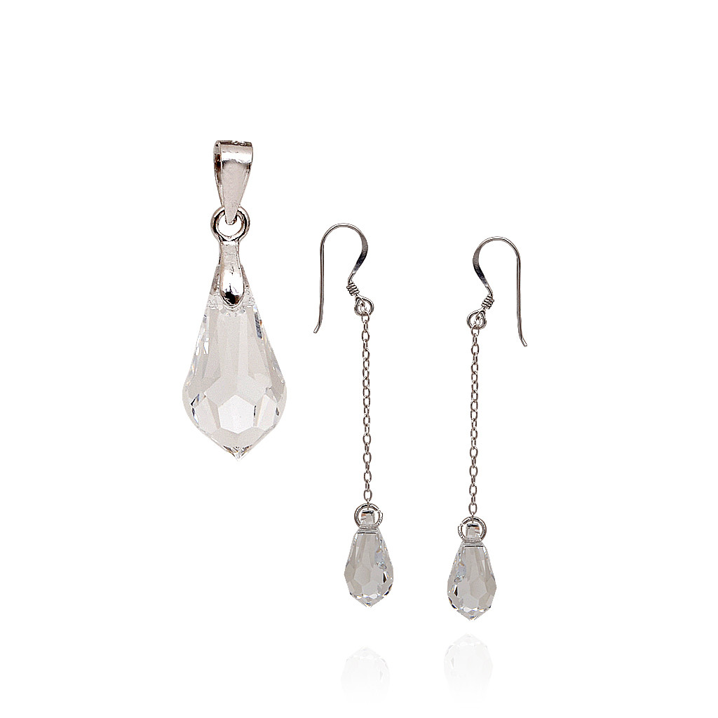 Charming Crystal Drop Pendant Set