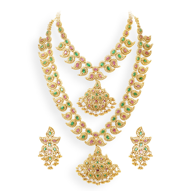 Traditional Mangamalai Studded with Polki and Multigems